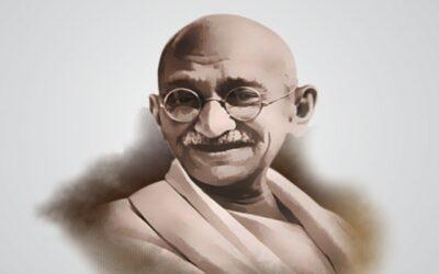 महात्मा गांधी. जहां होंगे वहां.